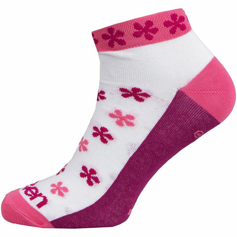 ponožky ELEVEN Luca FLOVER PINK vel. 2- 4 (S) růžové/bílé/fialové