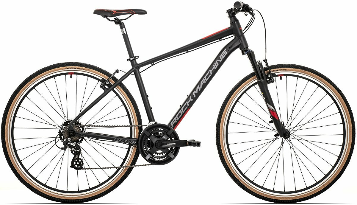 Krosové kolo Rock Machine CrossRide 100  mat black/dark grey/brick red   2021 vel.-XL 21""