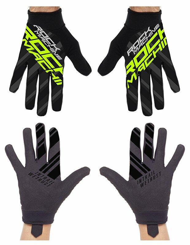 dlouhoprsté rukavice ROCK MACHINE Race zelené vel.L