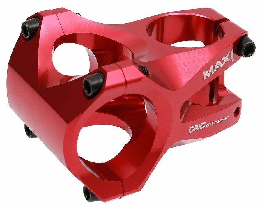 Představec MAX1 Enduro CNC 45/0°/35 mm červený