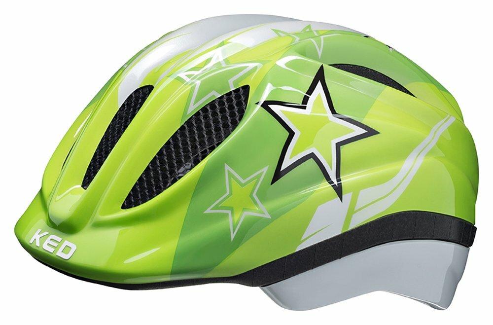 přilba KED Meggy S green stars 46-51 cm