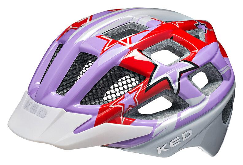 přilba KED Kailu M Purple Red Stars 53-59 cm