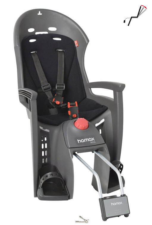 Dětská sedačka zadní HAMAX Siesta new šedo/černá