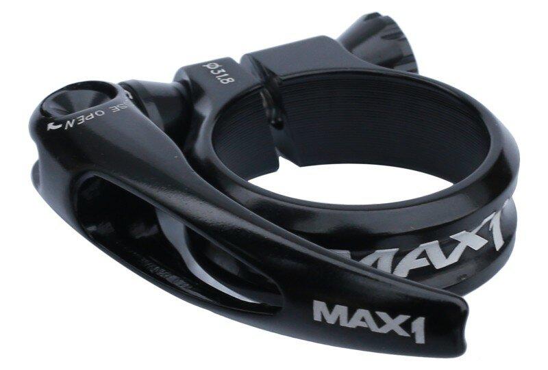 Sedlová objímka MAX1 Race 31,8 mm rychloupínací černá