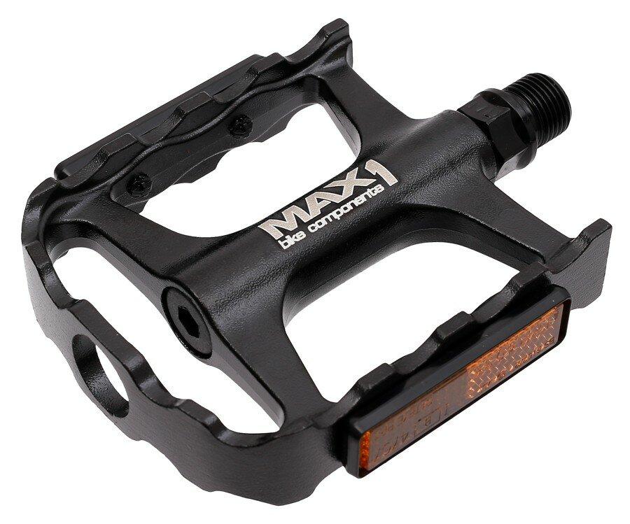 Pedály MAX1 Tour XL ložiskové hliníkové černé
