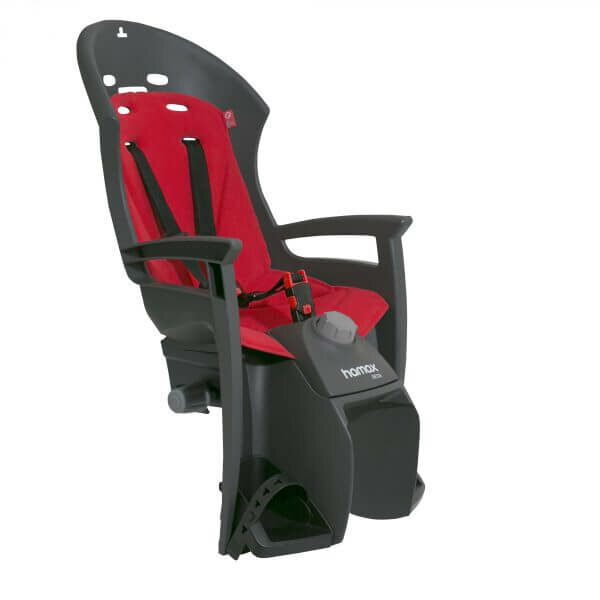 sedačka zadní HAMAX Siesta plus šedo/červená, uchycení na nosič
