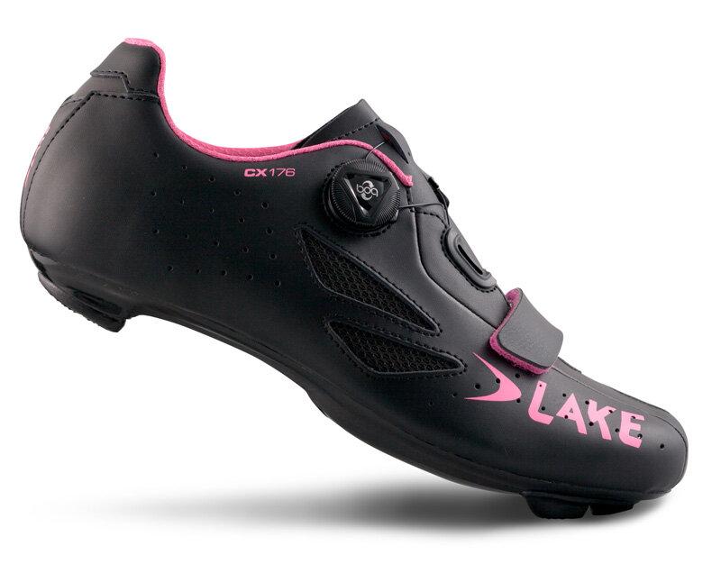 tretry LAKE CX176 černo/růžové vel.42