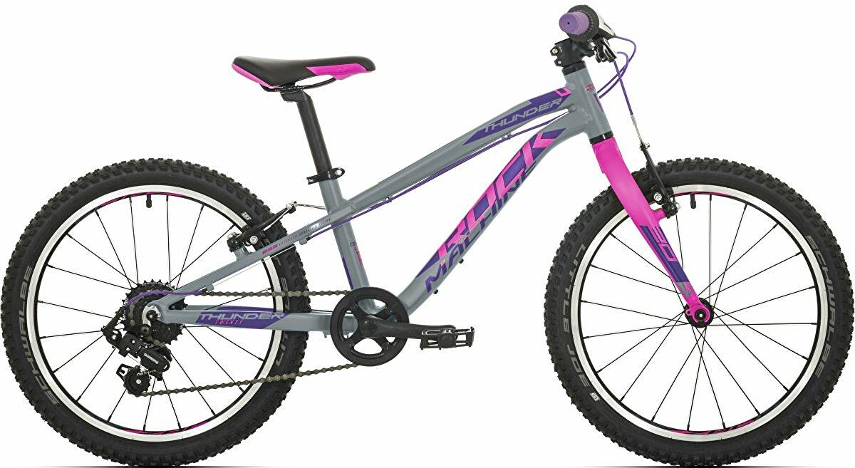 Dětské kolo Rock Machine Thunder 20 gloss grey/pink/violet 2020