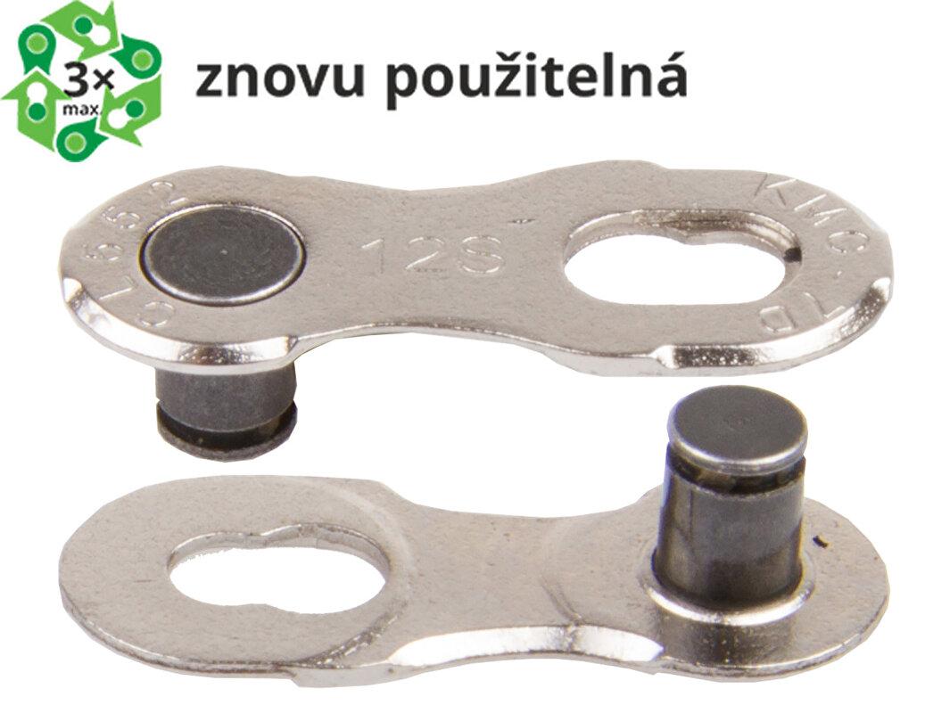 Spojka řetězu KMC 12 speed EPT, balení 2 ks