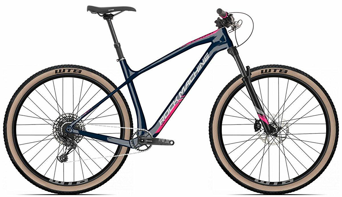 """Dámské kolo Rock Machine Catherine CRB 20-29 gloss dark blue/pink/silver 2021 vel. S-15"""""""